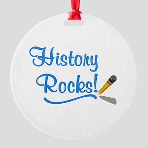 History Rocks Round Ornament