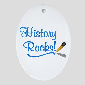 History Rocks Ornament (Oval)