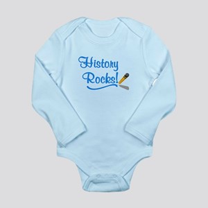 History Rocks Long Sleeve Infant Bodysuit
