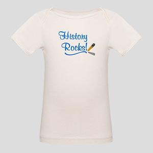 History Rocks Organic Baby T-Shirt