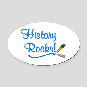History Rocks Oval Car Magnet