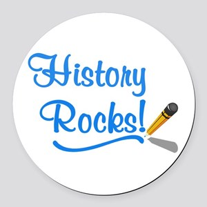 History Rocks Round Car Magnet
