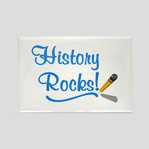History Rocks Rectangle Magnet