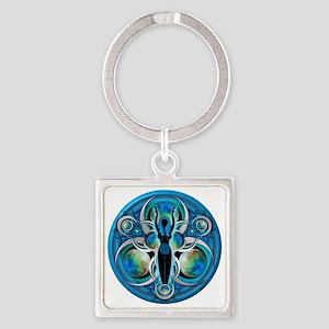Goddess Design - 005 - Water Square Keychain