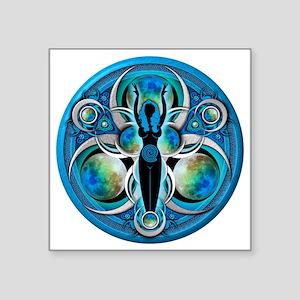 "Goddess Design - 005 - Wate Square Sticker 3"" x 3"""