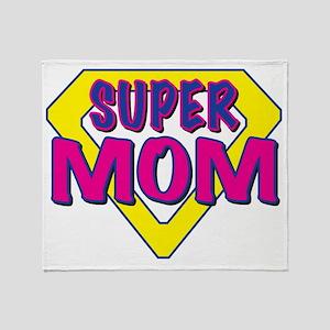 super MOM-outline Throw Blanket