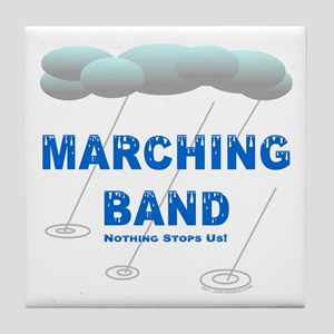 Marching Band in the Rain Tile Coaster