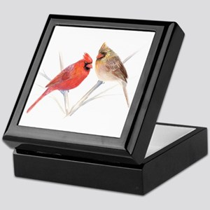 Northern Cardinal male & fema Keepsake Box