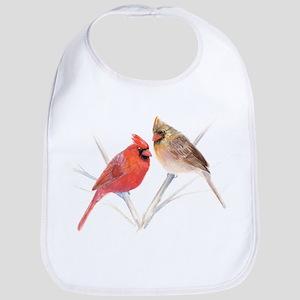 Northern Cardinal male & fema Bib