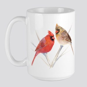 Northern Cardinal male & fema Large Mug