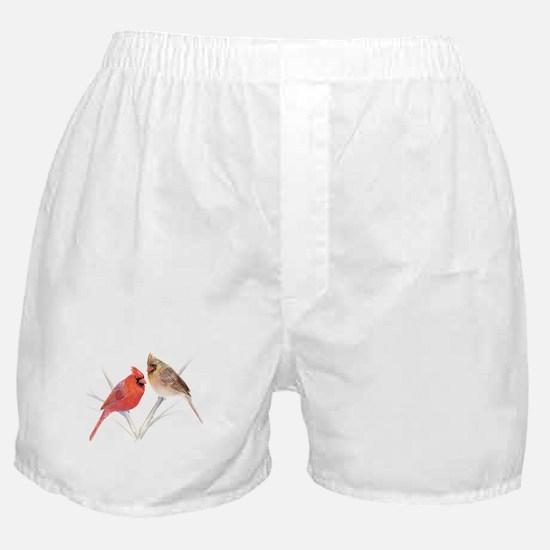 Northern Cardinal male & fema Boxer Shorts