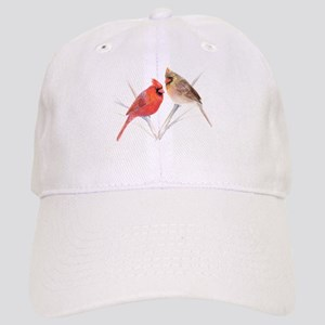 Northern Cardinal male & fema Cap