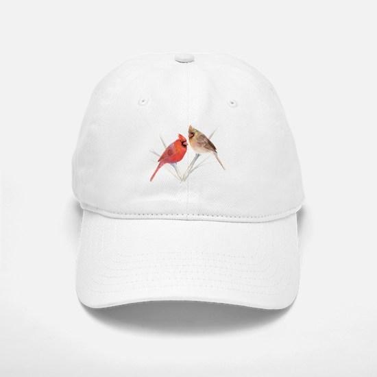 Northern Cardinal male & fema Baseball Baseball Cap