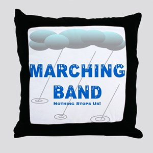 Marching Band in the Rain Throw Pillow