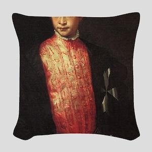 Portrait of Ranuccio Farnese Woven Throw Pillow