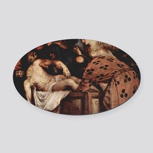The Entombment Oval Car Magnet