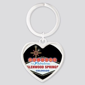 GLENWOOD SPRINGS LIGHT Heart Keychain