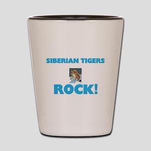 Siberian Tigers rock! Shot Glass