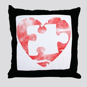 missing_puzzle_piece_from_heart Throw Pillow