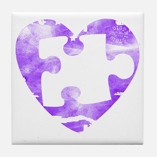 missing_puzzle_piece_from_heart_2 Tile Coaster