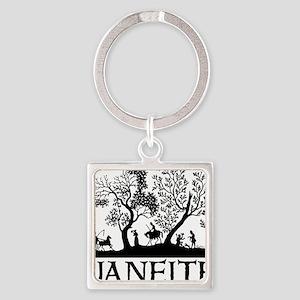 Janeite Jane Austen Fan Design Square Keychain