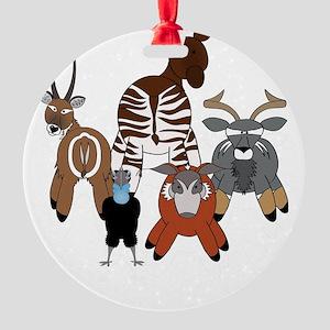 Pembedark2 Round Ornament