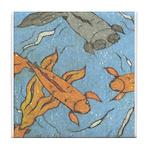 Swimming Goldfish Tile Coaster