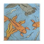 Swimming Goldfish Tile Coaster