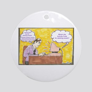 Deleting Emails Ornament (Round)
