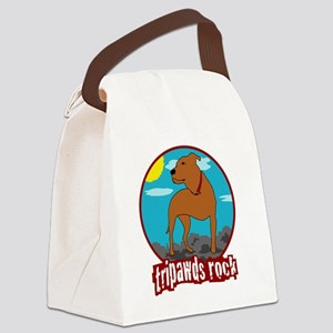 Tripawds Rock Front Leg Pit Bull Canvas Lunch Bag