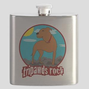 Tripawds Rock Front Leg Pit Bull Flask