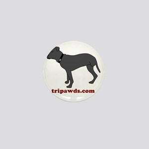 Tripawd Pitbull Rear Leg Mini Button