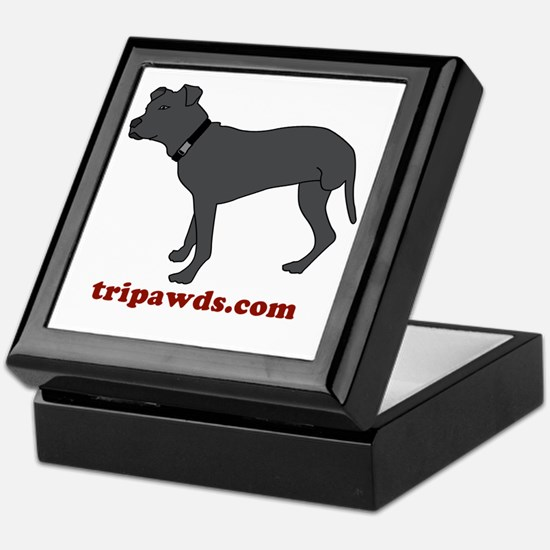 Tripawd Pitbull Rear Leg Keepsake Box