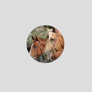 Reining Horses Mini Button