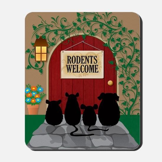 welcomerodents12 Mousepad