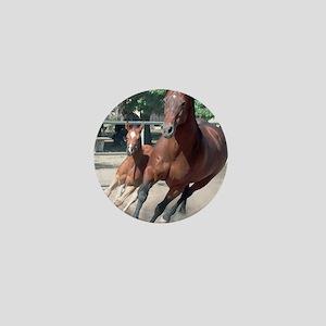Mare and Foal Mini Button