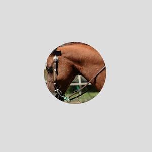Chestnut western horse Mini Button