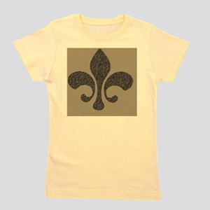fleur de lis note cards gold pen and in Girl's Tee