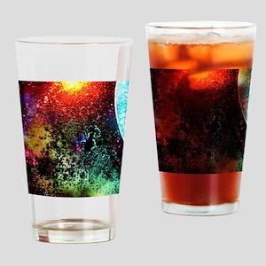 Splattered Universe Drinking Glass