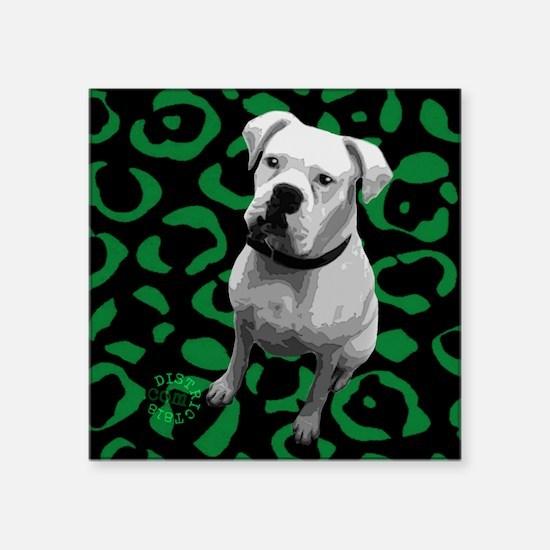 """boxer_coaster Square Sticker 3"""" x 3"""""""