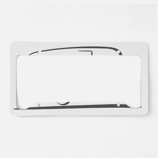 shasta_16_outline_gray_300ppi License Plate Holder