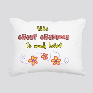 this great grandma salmo Rectangular Canvas Pillow