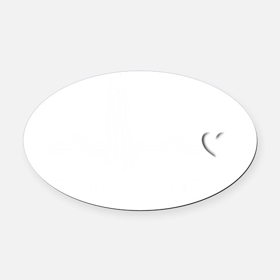 Nursing STudent QRS white Oval Car Magnet