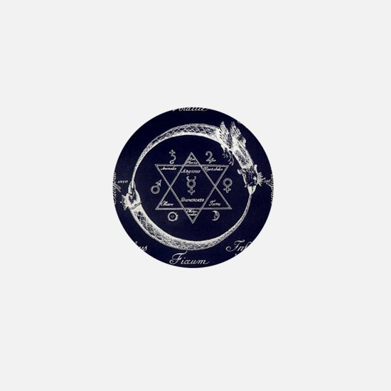 ouroboros-and-solomons-seal Mini Button