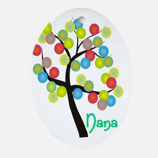 Nana Tree Bubbles Oval Ornament