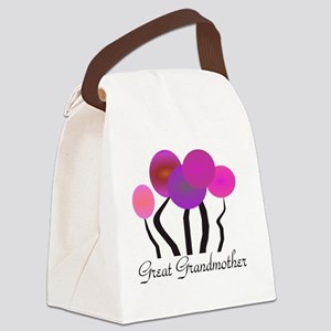 Great Grandmother pink trees Canvas Lunch Bag
