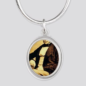 John Snow Silver Oval Necklace