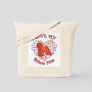 Love Bichon Tote Bag