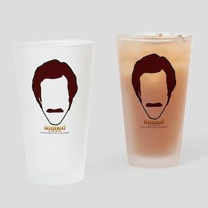 Anchorman Hair Drinking Glass