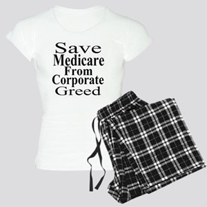 Save Medicare from Greed-wt Women's Light Pajamas
